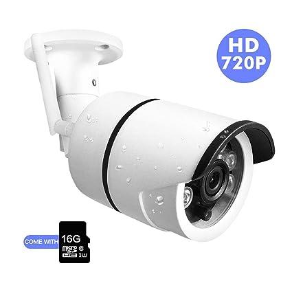 SDETER Cámaras de Vigilancia Exterior, 720P Cámara IP WiFi de Exterior Impermeable IP66 Tiene Detección