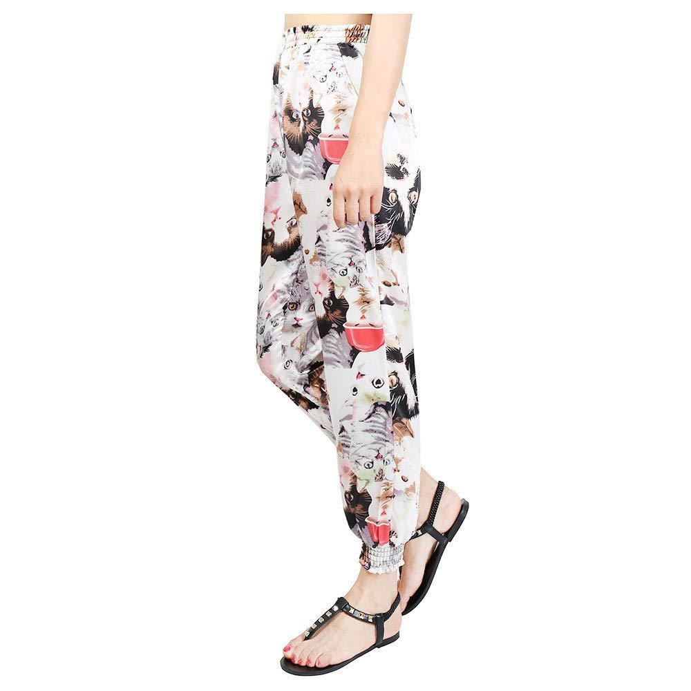 Xturfuo Cotton Harlan Yoga Pants Womens Thai Hippie Loose Wide Leg Pants National Style
