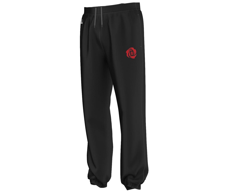 adidas Pantalón de chándal D. Rosa, Negro y Rojo: Amazon.es ...