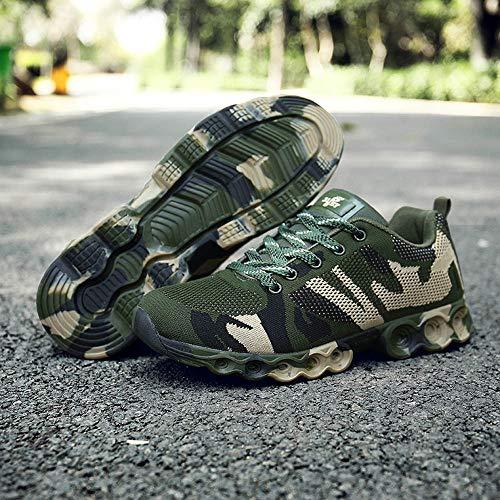 Casual Verde Scarpe Grigio Uomo Scarpe Morbide Uomo Comode 45 40 Camoscio Scarpe da Sneakers Verde da Marrone Scarpe Stringate Mocassini Uomo ASHOP Moda EU in Militare Militare EU FXRfqrXw
