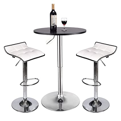 Amazon Com Puluomis Round Dining Bar Table 35 Inches Height 360