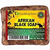 Incredible By Nature Raw Organic African Black Soap for Acne and Dry Skin - 1 lb. (16 oz.)