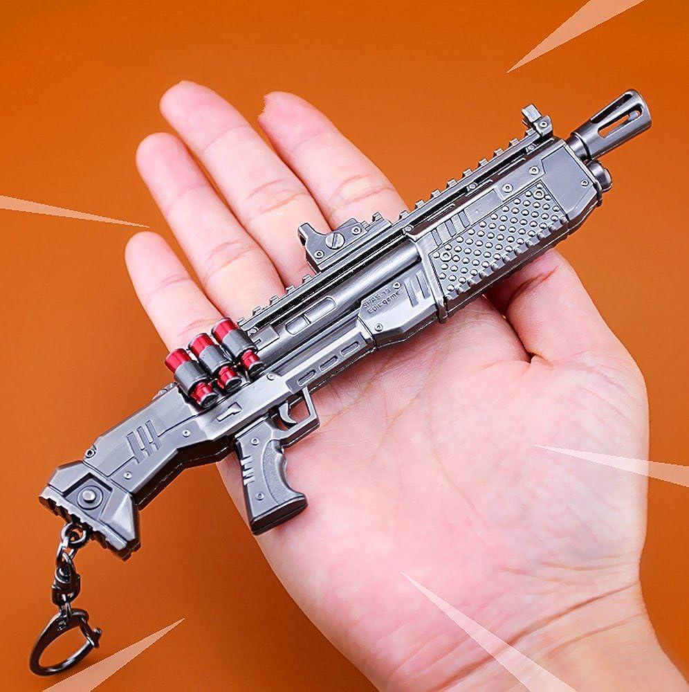 Llavero de metal para juegos con pistola de escopeta pesada ...