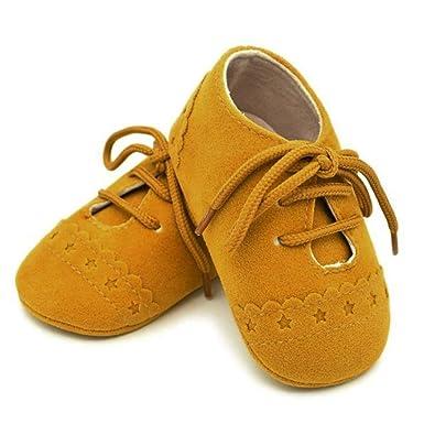 ZODOF Zapatos de bebé para niños Zapatos Antideslizantes de Suela Blanda con Cordones Zapatos Zapatillas Respirable Mocasines Deportes Sneaker Malla ...