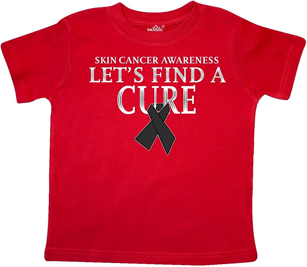 inktastic We Will Find a Cure Skin Cancer Awareness Long Sleeve Creeper