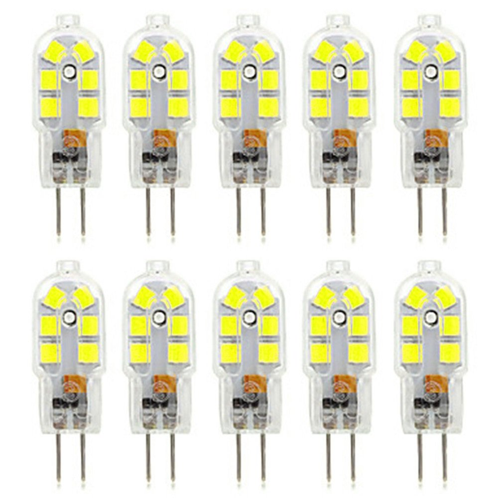 DOLDT1 G4 LED Bulb Bi-Pin Base 12LED 3W (Equivalent Replacement 30W Halogen Lamp)LED Corn Bulb Apply To Crystal Chandelier, Kitchen, Restaurants, Hotels, Art Galleries And Many Other Households AC 220