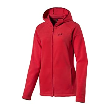 Fleece jacke rot damen