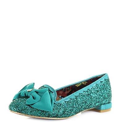 Shoes Sulu Womens Ballerina Size Irregular Glitter Choice Green Flat 4jA5RL