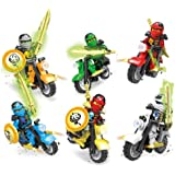 Bestop 6 X Minifigures Ninja Figures Toys Ninja Blaster Motorcycle Birthday Gifts Ninja Movie Sets Christmas Toys