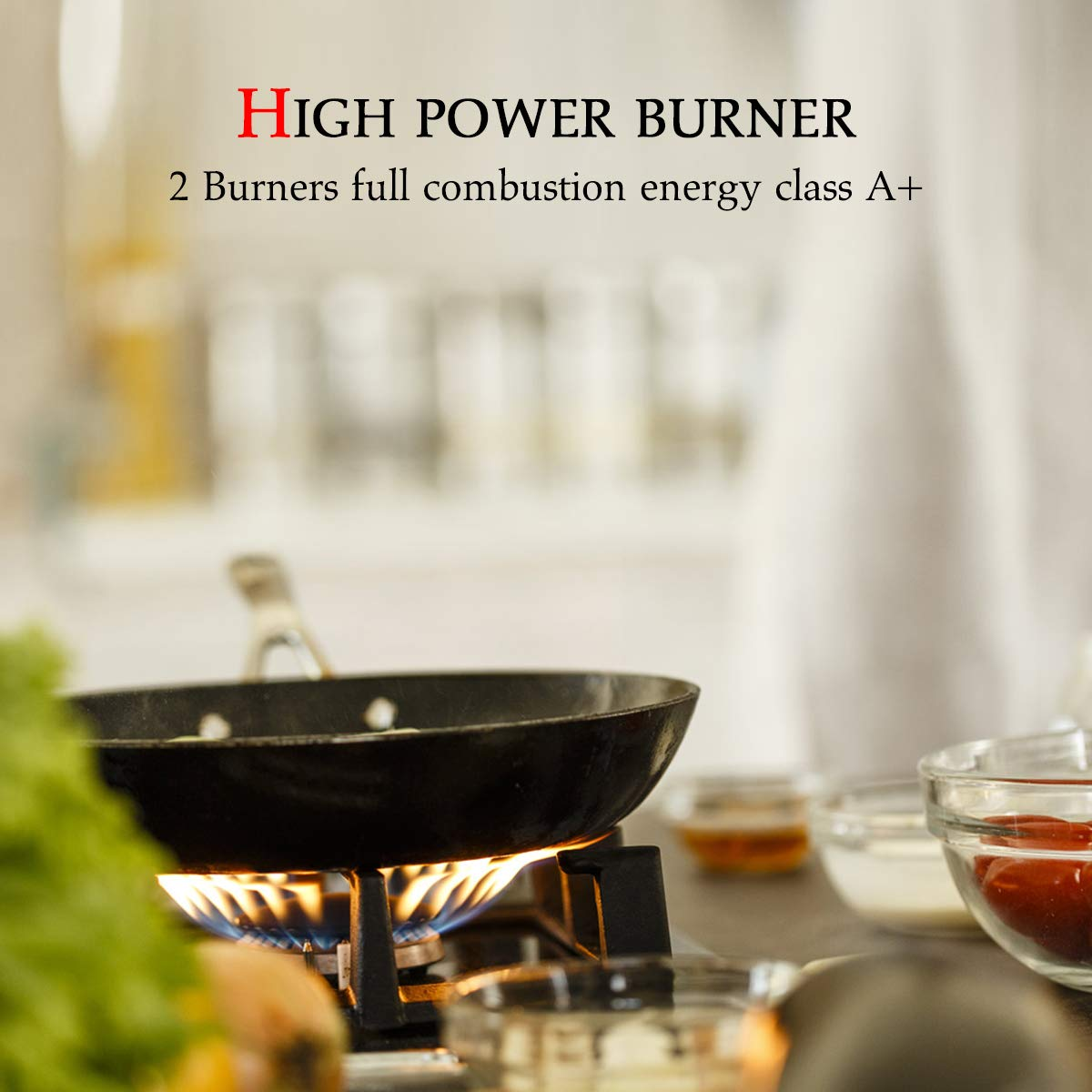 Gas Cooktop Gas Stove Top with 2 Sealed Burners Tempered Glass LPG Natural Gas Cooktop ETL Safety Certified Thermocouple Protection /& Easy To Clean Gasland chef GH30BF 12 Built-in Gas Stove Top