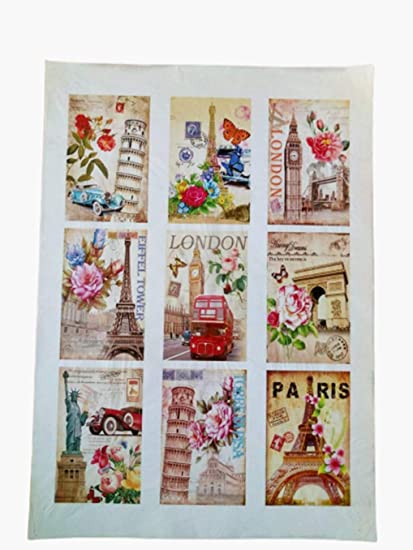 A4 // 20x25 cm Paper for decoupage Vintage Style Total 3 Sheets