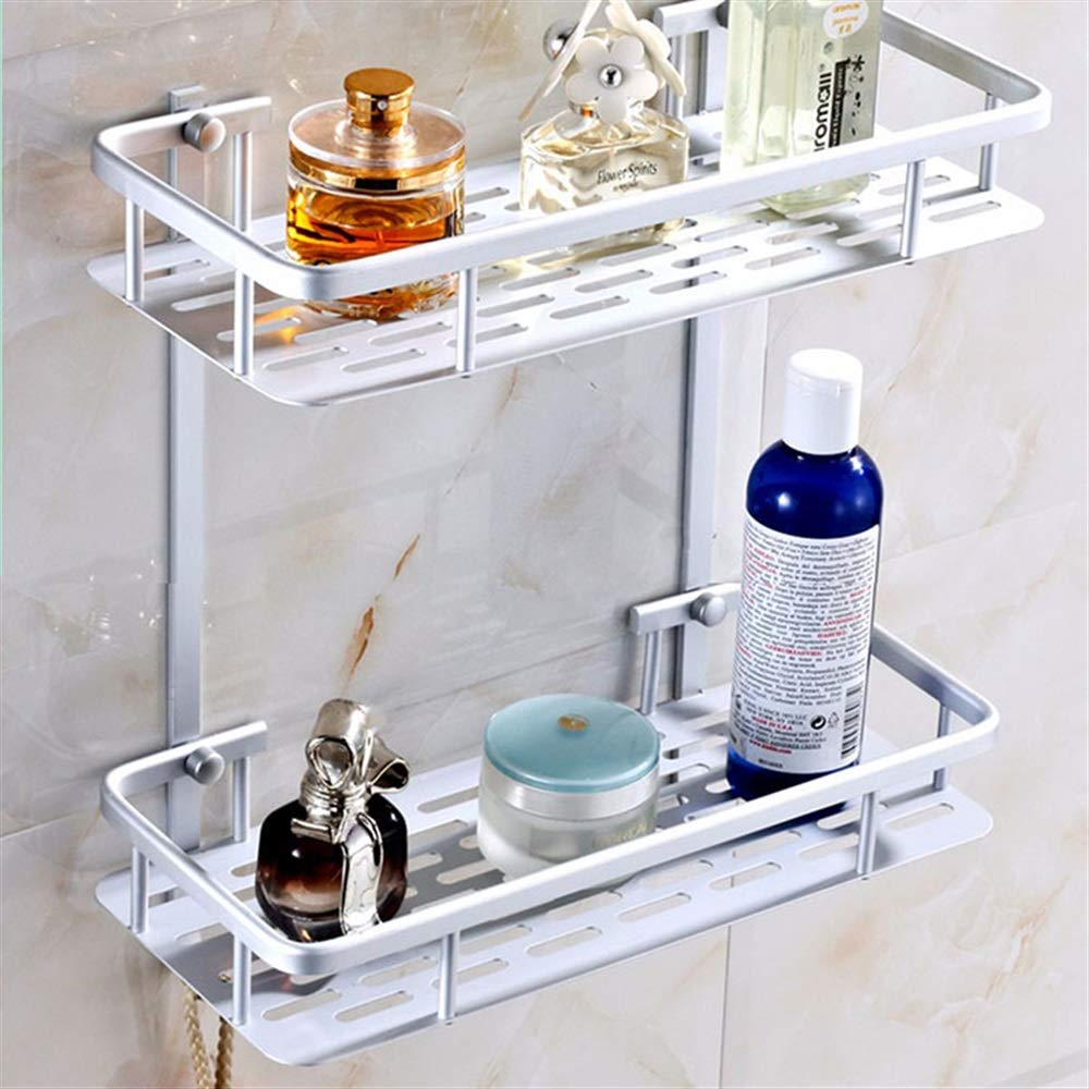 Tuersuer Easy to Assemble Bathroom Shelf Hollow Out Aluminium Bathroom Kitchen Storage Rack Commodity Shelf Sundries Holder (Color : 1 Layer) by Tuersuer (Image #3)