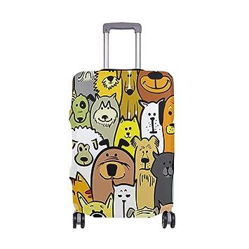 Perros Gatos Dibujos Animados Doodle Travelers Choice Travel Equipaje con Ruedas giratorias Maleta de Equipaje de 20 Pulgadas: Amazon.es: Equipaje