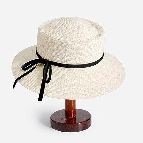 9db5114aa3e4e Sunny Honey Sombrero De Paja De Mujer Bombín Sombrero De Visera Estilo  Francés Verano Cubo Sombreros Hembra  Amazon.es  Jardín