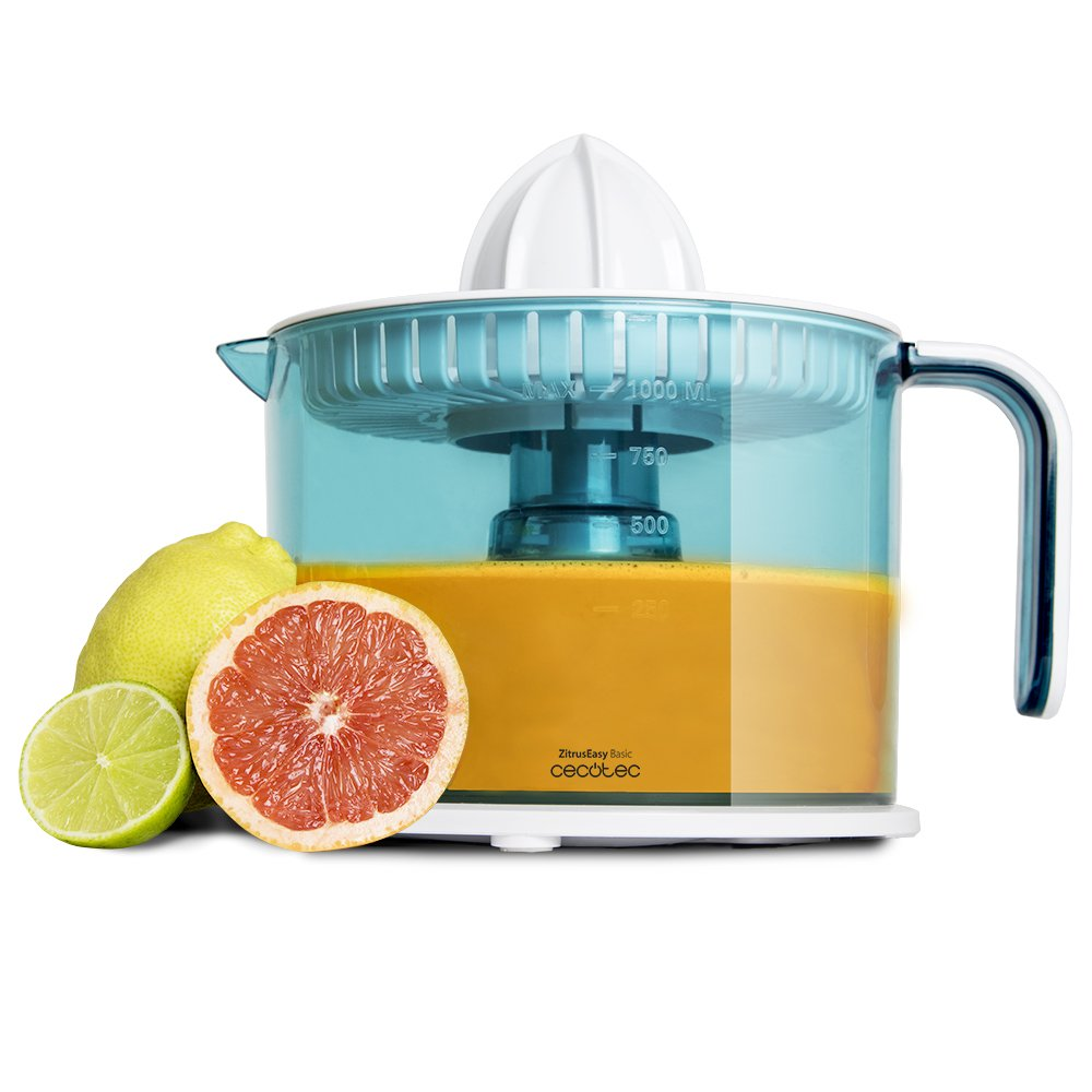 Electric Juicer for Oranges and Citrus 40 W. Drum 1 Liter BPA Free. Double Swivel Sense, Double Cone and Dust Cover. zitruseasy cecotec Basic. 04068