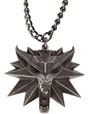 The Witcher 3 Wild Hunt Medallion - Wild Wolf Head Pendant - Video Game Memorabilia for Men