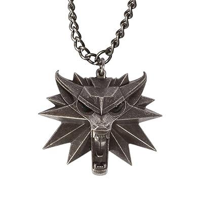 The Witcher 3 Wild Hunt Medallion - Wild Wolf Head Pendant - Video Game Memorabilia for Men ipFlhi5m