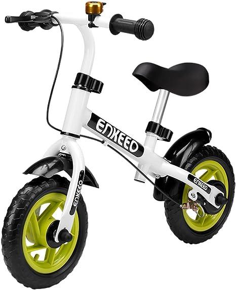 ENKEEO - Bicicleta sin Pedal de 10 ″ con Timbre y Freno de Mano ...