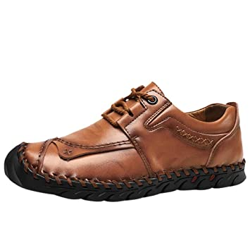 Vaycally Zapatos de vestir formales con cordones Oxford clásicos ...