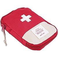 AMOYER Mini Camping en Plein air Voyage réponse Case Portable Trousse de Premiers Soins Sac Pill Poche