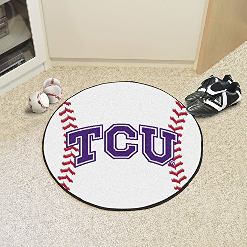 FANMATS NCAA Texas Christian University Horned Frogs Nylon Face Baseball Rug