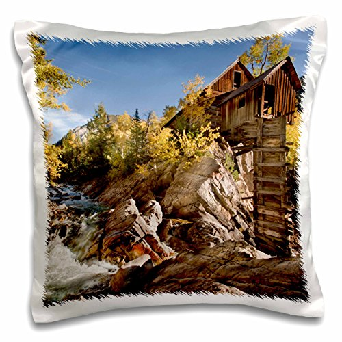 Danita Delimont - Mills - USA, Colorado, Gunnison Forest, Crystal Mill - US06 BJA0322 - Jaynes Gallery - 16x16 inch Pillow Case - Mills 16 Colorado