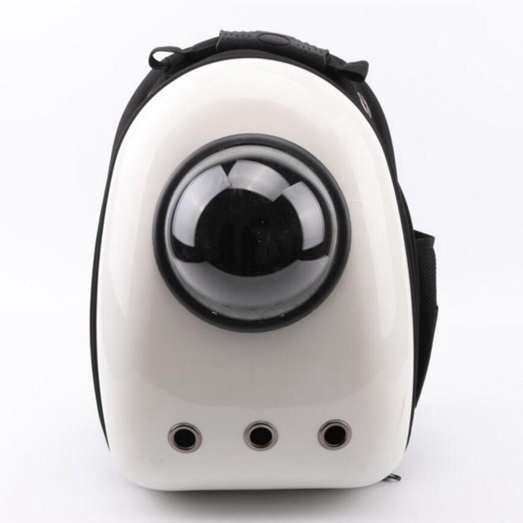 B Miaoge Pet Carriers Traveler Bubble Backpack Airline Travel Approved Carrier for Cats and Dogs Waterproof breathable(White) 392942cm