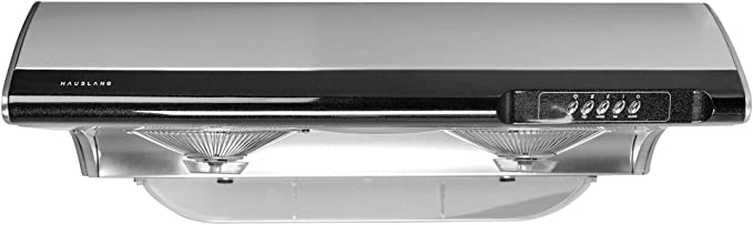 Ducted Top//Rear Vent 36 inch Under-Cabinet Range Hood 350-CFM 3 Reusable Filters Stainless Steel Slim Kitchen Stove Cook Fan with 2 Lights Dual Motor 3 Exhaust Fan Speeds