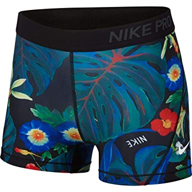 wholesale dealer 53b7c ae149 Nike Women s Pro 3 quot  Hyper Femme Short (Black Multi, Large 3)