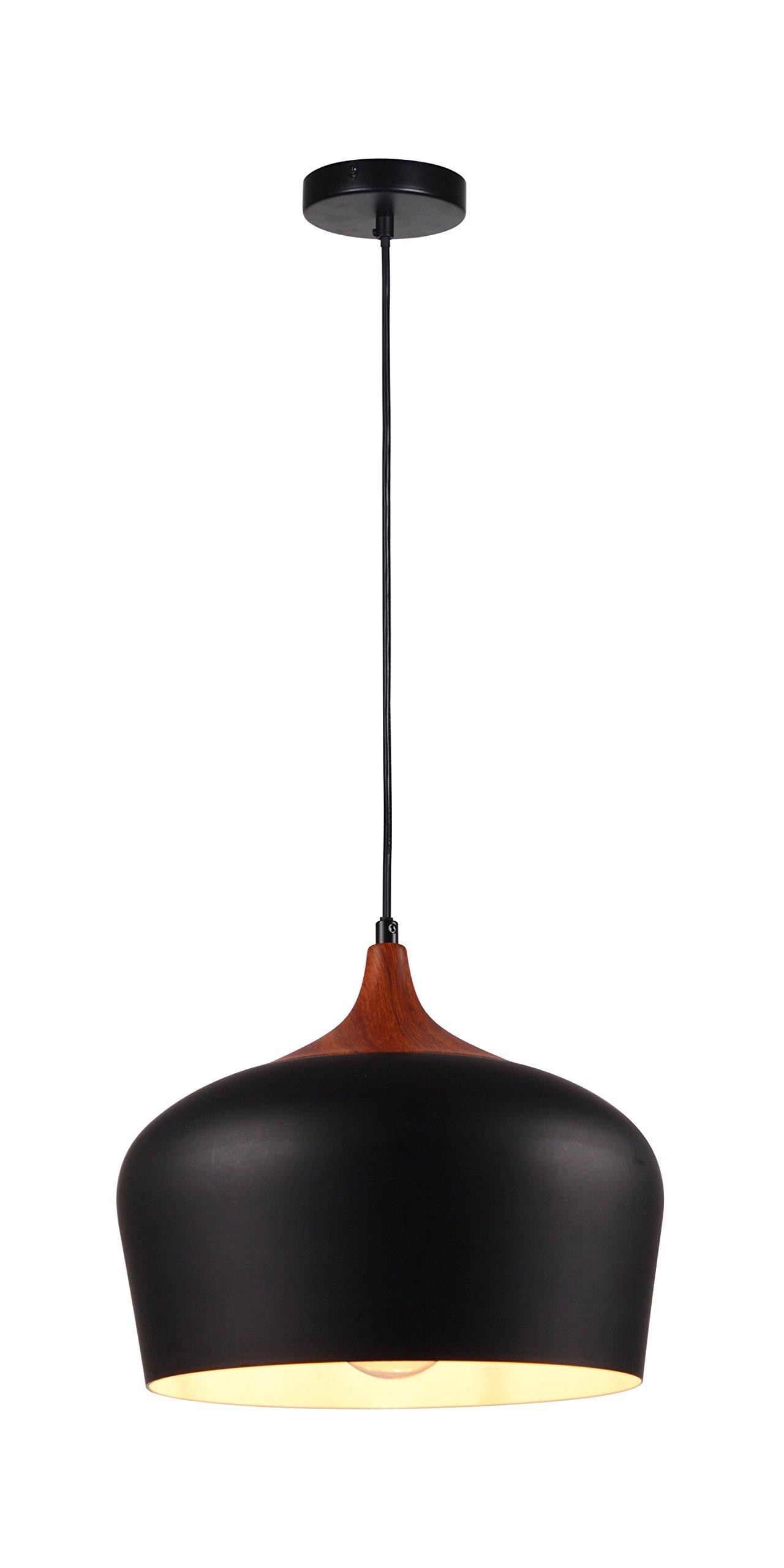 Summitland 12 inch Black Aluminum Pendant Light