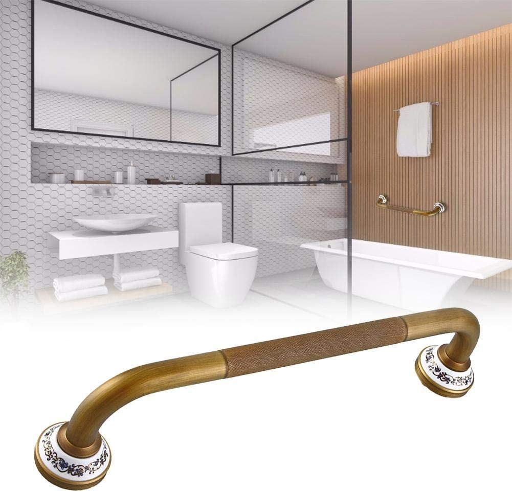 ASDFGH Bathtub Handle Brass Safety Toilet Support Railing Disabled Auxiliary Handle Handle (Color : A)
