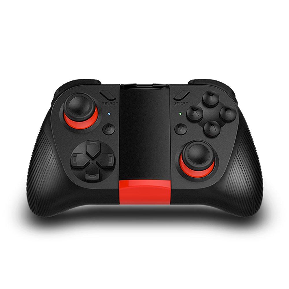 TNP Bluetooth Game Controller Wireless Gamepad Joypad Joystick with Phone Clip for Android Samsung S7 S6 Edge Note 5 Nexus LG Smartphone Tablet Emulator Gear VR, Windows PC via BT HID Protocol
