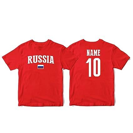 a539d7e44c0 nobrand Russia Men s National Pride Man Soccer Flag Team T-Shirt (Men Red  5XL