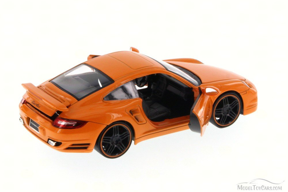 Amazon.com: Jada Porsche 911 Turbo, Orange Toys Bigtime Kustoms 91852 - 1/24 scale Diecast Model Toy Car (Brand New, but NO BOX): Toys & Games