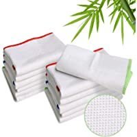 Luckiss 100% Bamboo Dish Cloths Cleaning Cloth and Dishcloths Sets Super Absorbent Towels Soft Durable and Eco-friendly…