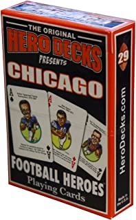 product image for Parody Productions Football Heroes Playing Cards - Chicago Bears