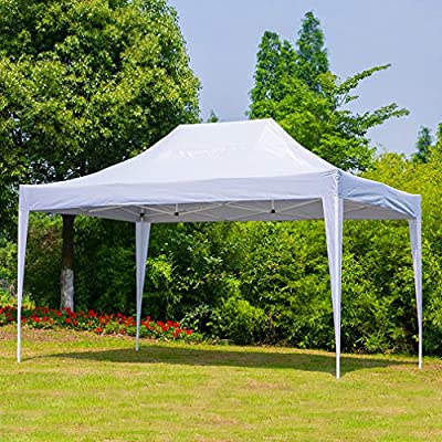 Erommy Outdoor 10x15 Ft Pop up Canopy Party Tent Heavy Duty Gazebos Shelters for Events