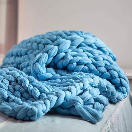 Amazon.com: Pawaca Manta de punto gruesa, manta para bebé ...