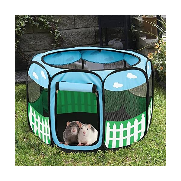 (Small) – Pet Puppy Dog Playpen Exercise Pen Kennel Tent Play Pen Foldable Indoor Outdoor Click on image for further info. 4