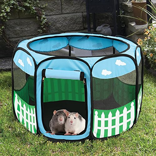 Portable Foldable Pet Playpen Fence Lightweight Animal