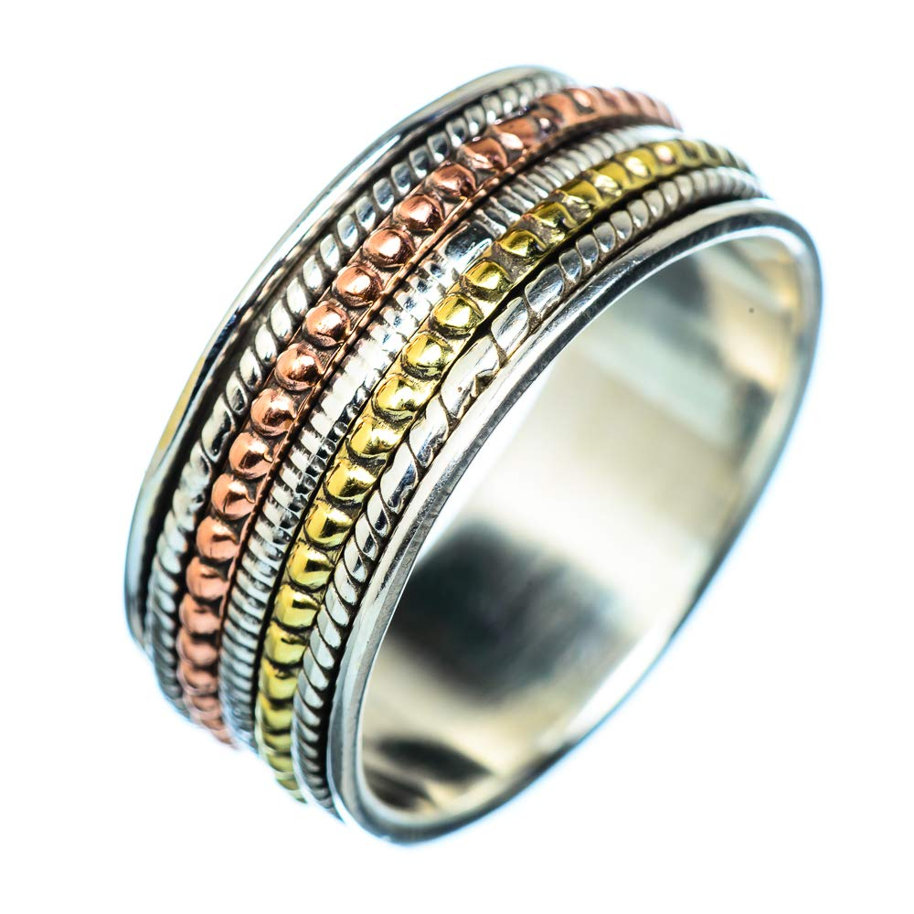 Ana Silver Co Meditation Spinner 925 Sterling Silver Ring Size 13 Handmade Jewelry Bohemian Vintage RING940431