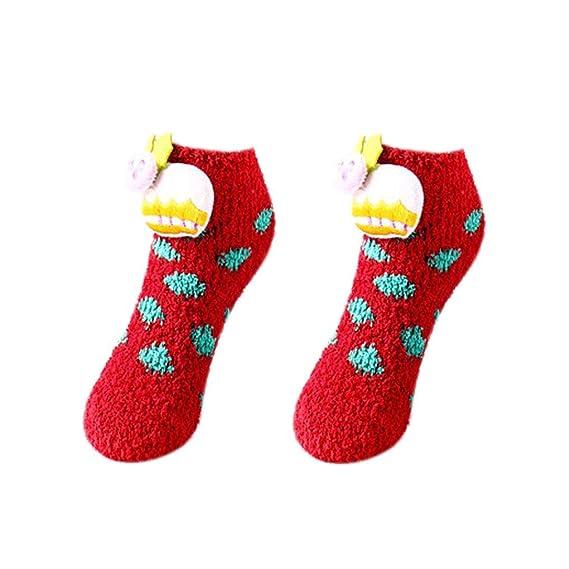 Adultos Niños del Padre-descendiente caliente de Navidad Calcetines estilo de dibujos animados de poliéster antideslizante estéreo Doll piso Calcetines: ...