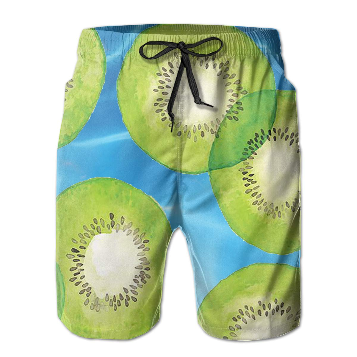 Wexzss Kiwi Funny Summer Quick-Drying Swim Trunks Beach Shorts Cargo Shorts