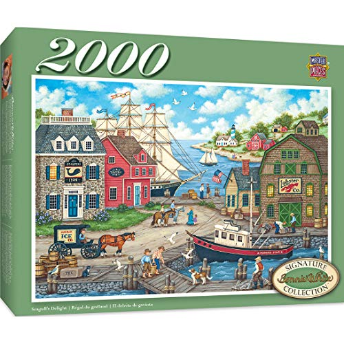MasterPieces Signature Series, Jigsaw Puzzle, Seagulls Delight, Featuring Art by Bonnie White, 2000 Pieces