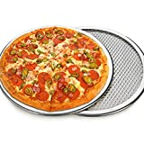 New Seamless Aluminum Pizza Screen Baking Tray, Pizza Making Net Bakeware Pizza Tools Metal Net Bakeware Kitchen Tools Pan Round Baking Tray