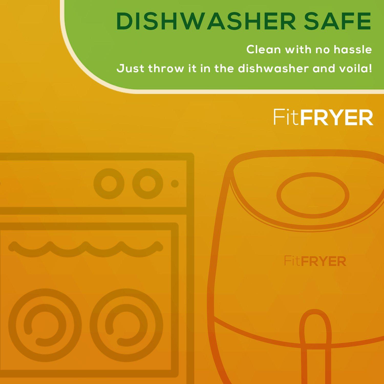 FitFryer Electric Hot Air Fryer, Healthy Oil Free Multi-Purpose Air fryer, 3.5 Qt Removable Dishwasher Safe Basket, Rapid Cook Technology