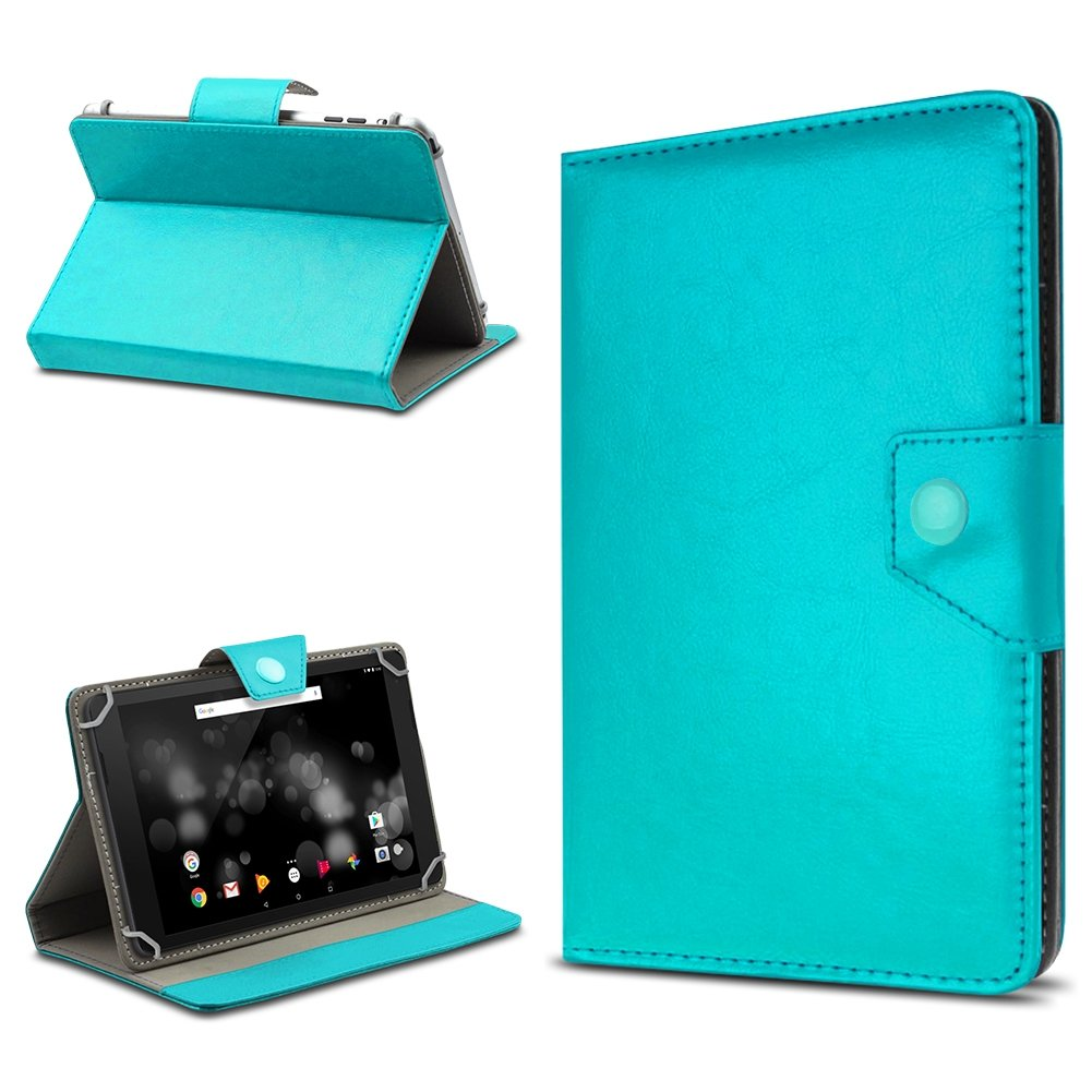 UC-Express Tablet Tasche fü r  Fire HD 10 Hü lle Schutzhü lle Cover 10.1 Zoll Case Etui, Farben:Blau