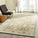 Safavieh Heritage Collection HG734A Handcrafted Traditional Oriental Light Blue and Ivory Wool Area Rug (5' x 8')