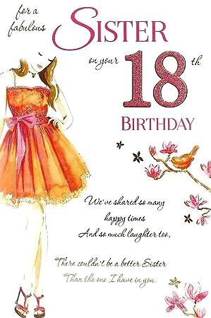 Geburtstagskarte Text 18.Geburtstagskarte Sister 18th Birthday Schwester 18