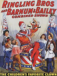 Amazon.com: WONDERFULITEMS Ringling BROS Barnum Bailey Combined Shows Children's Favorite Clown